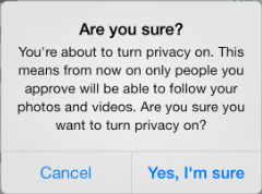 Instagram - Posts are Private - Are you sure