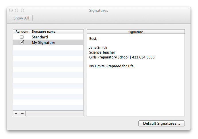 How to create an email signature in outlook for mac