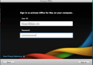 Sign In To Activate Office For Mac On Your Computer The User Id Is Your Gps Email Address Then Type Your Gps Password