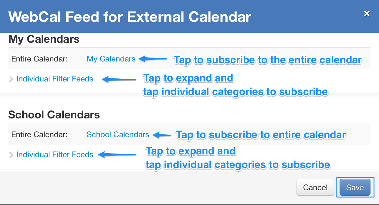 How to Subscribe to a MyGPS School Calendar – GPS IT Support